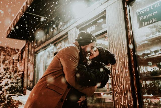 romantika při sněžení