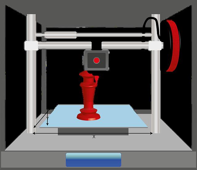 červený 3D výrobek